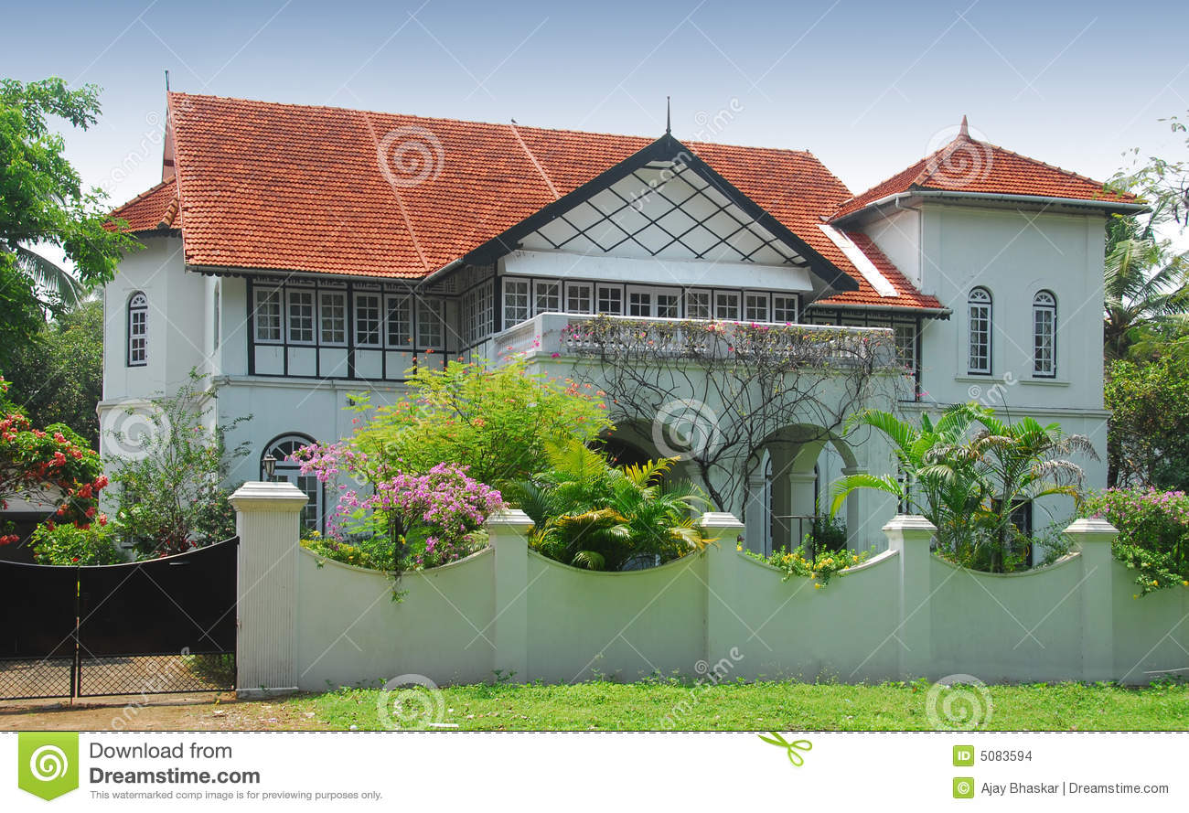 Indian bungalow stock photo image of roof street for Plan of bungalow in india