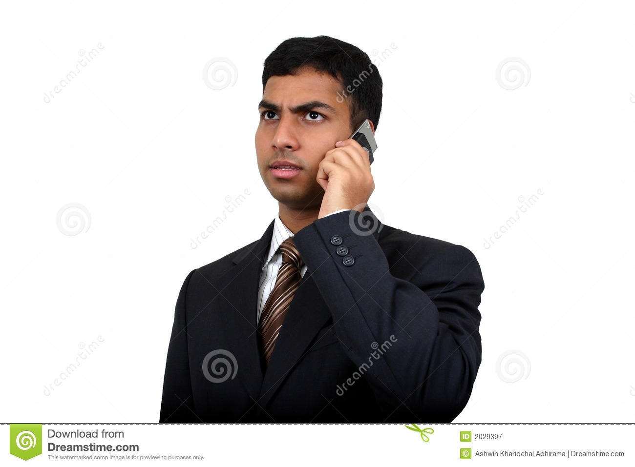 Indian business man using cellphone (3)