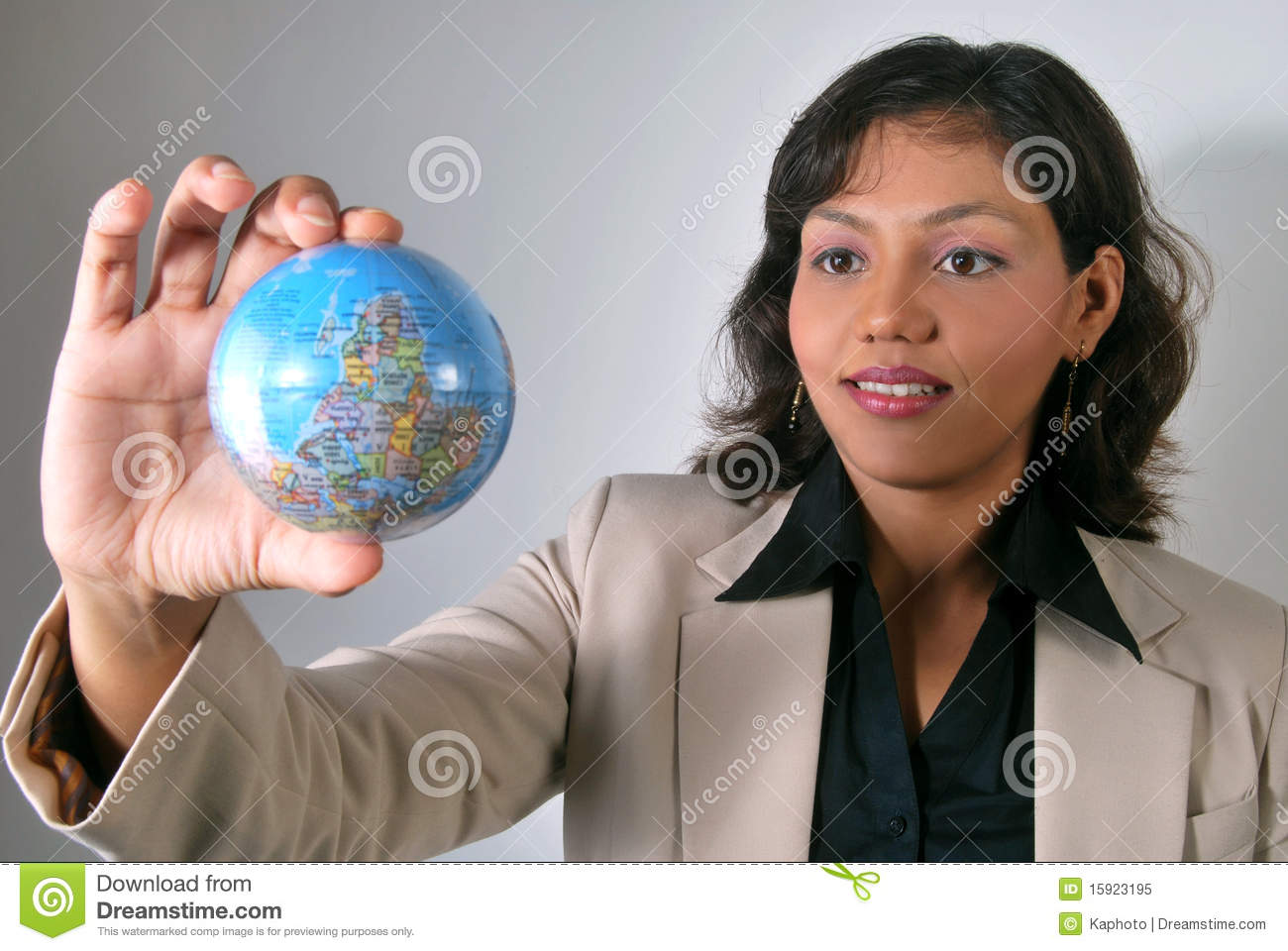 Indian business woman with global vision