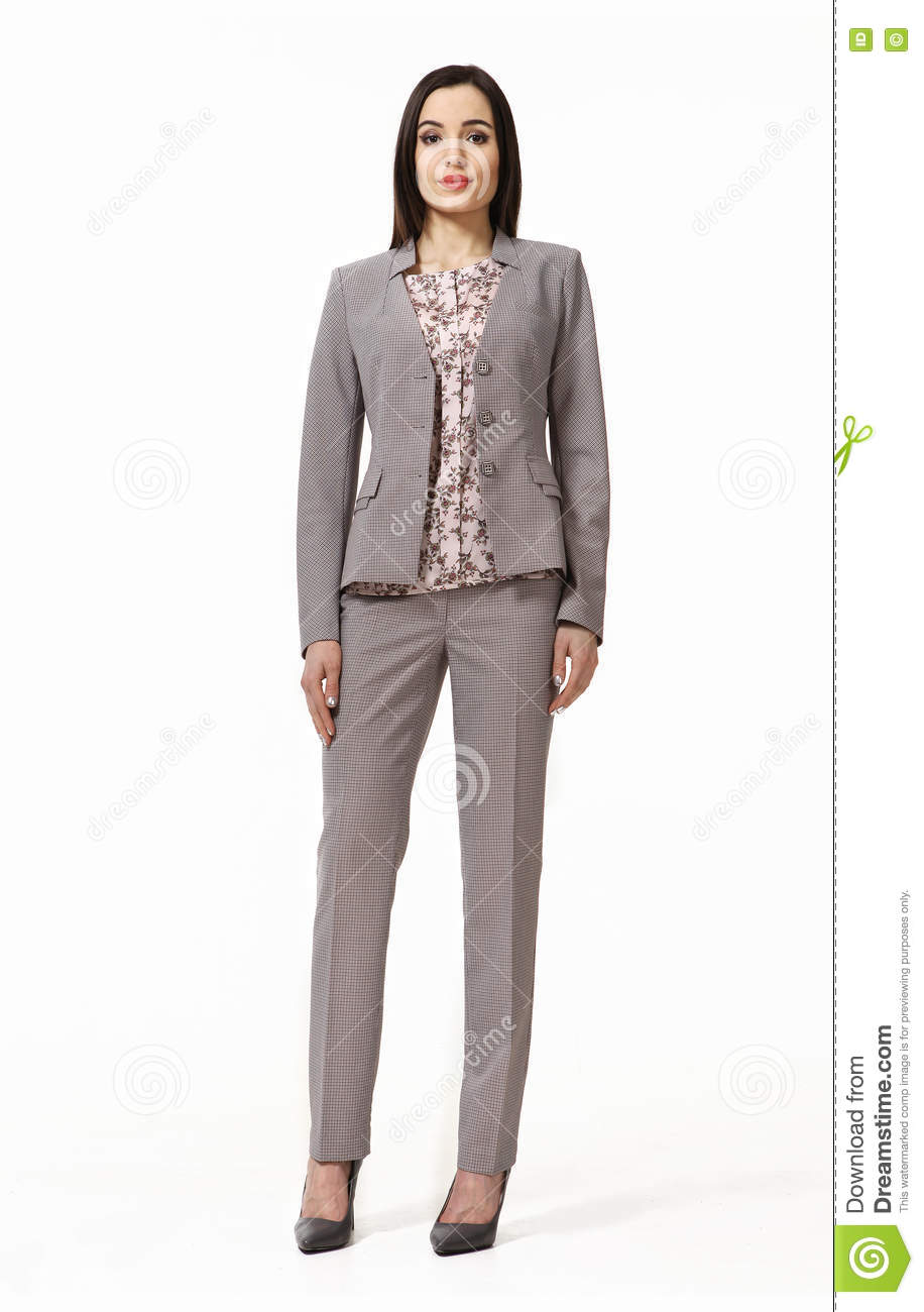 indian business woman with straight hair style stock photo - image