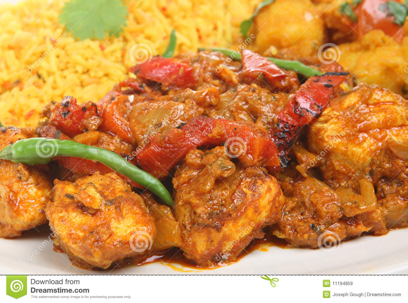 indian chicken jalfrezi with rice and vegetable curry mr no pr no 2 ...