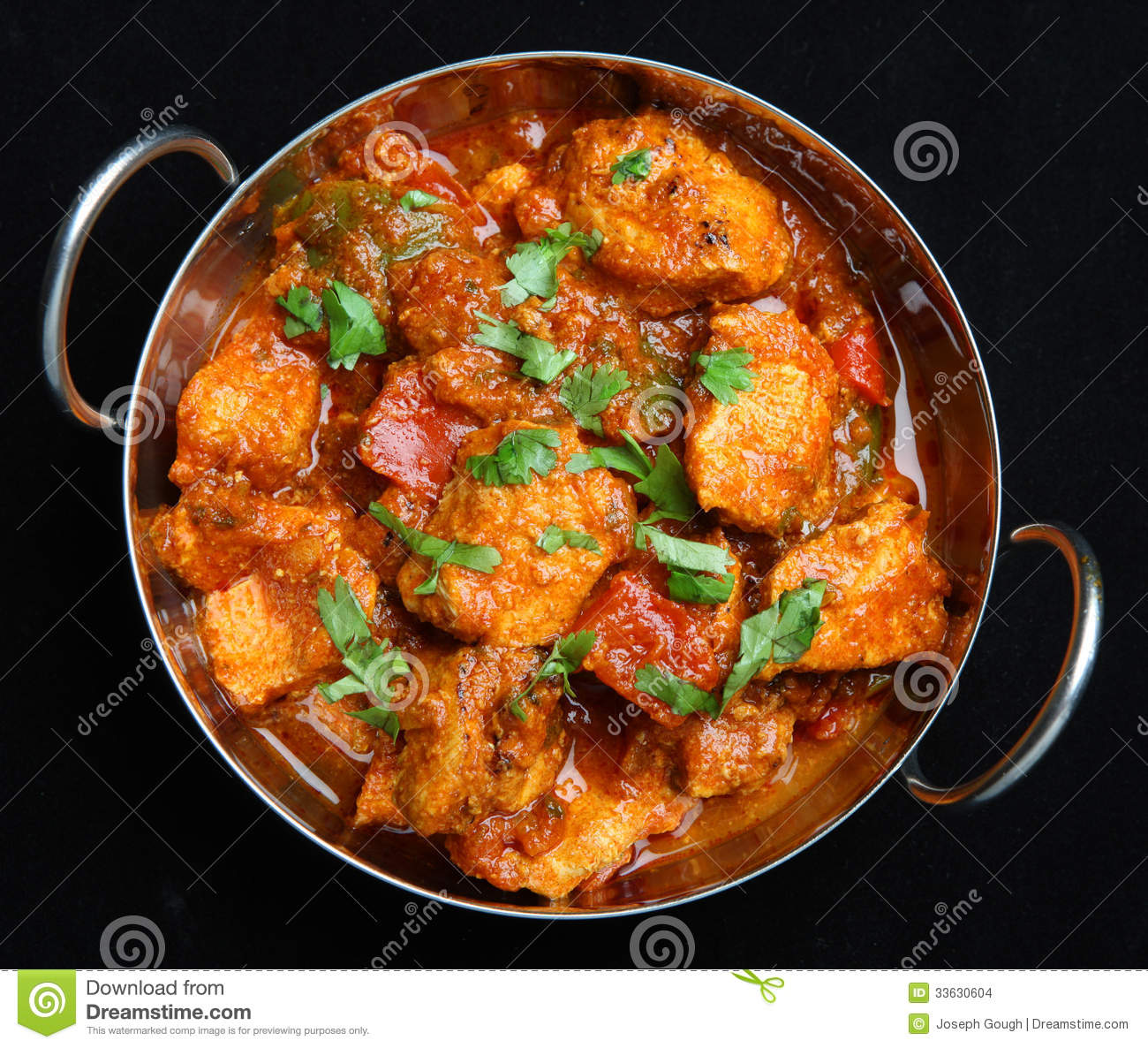 indian chicken jalfrezi curry food stock photo image of chicken cilantro 33630604. Black Bedroom Furniture Sets. Home Design Ideas