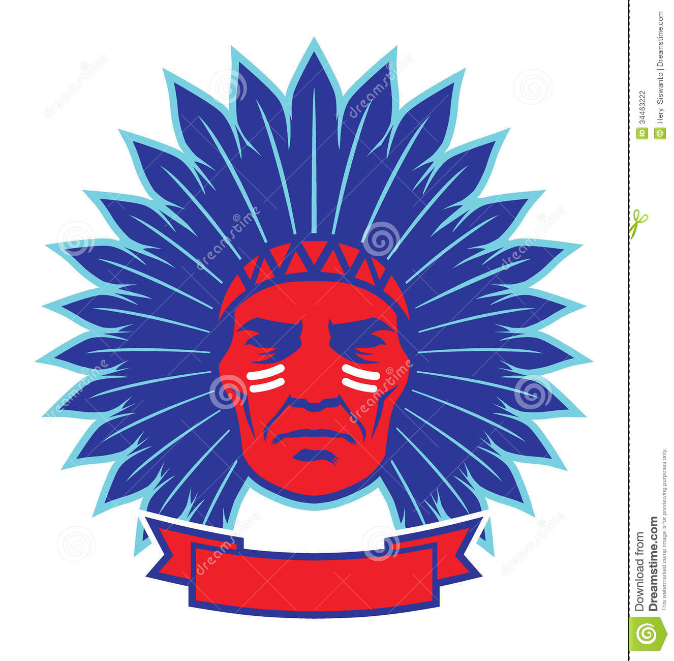 indian chief mascot stock photography