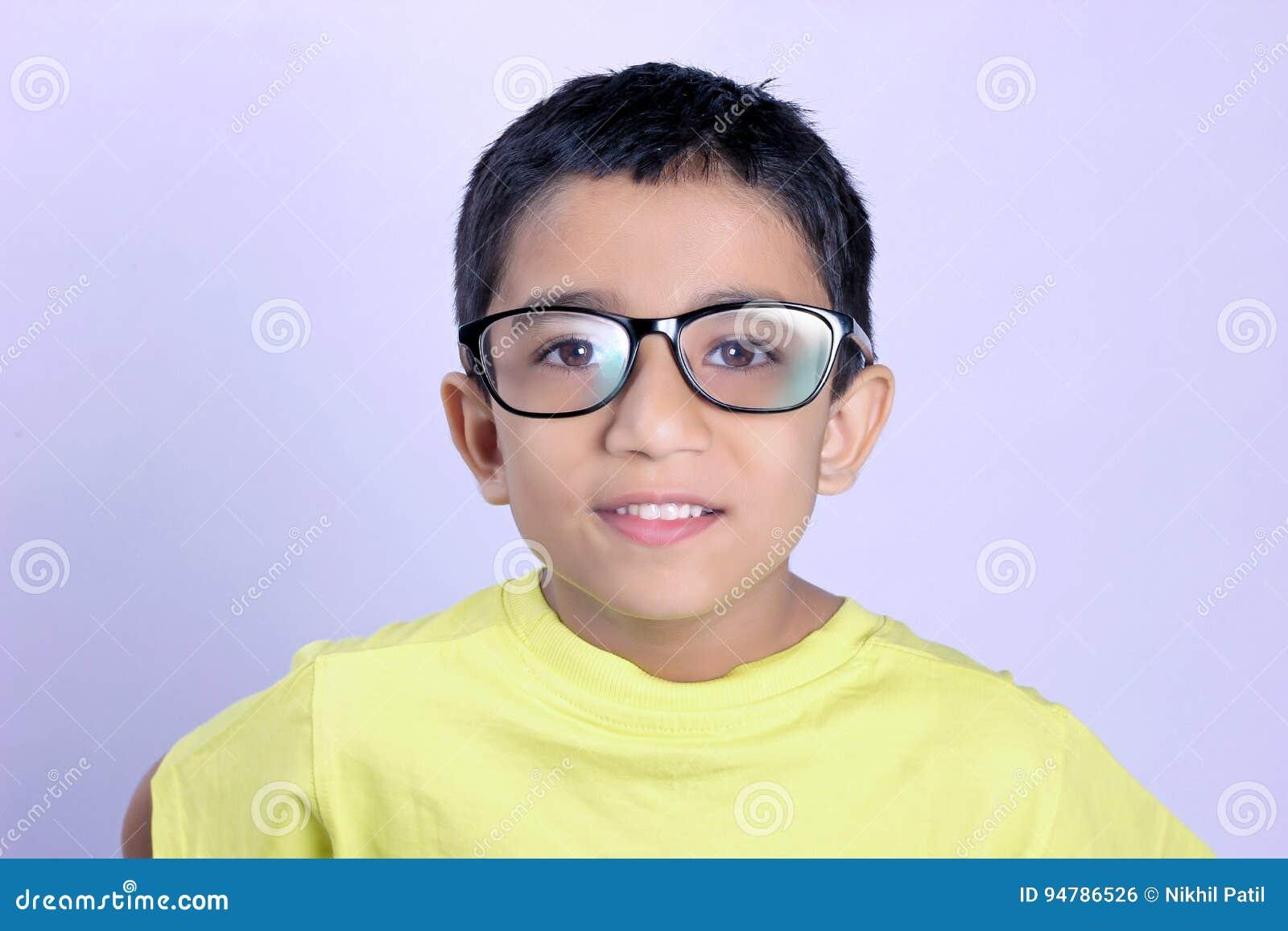 Indian child on eyeglass
