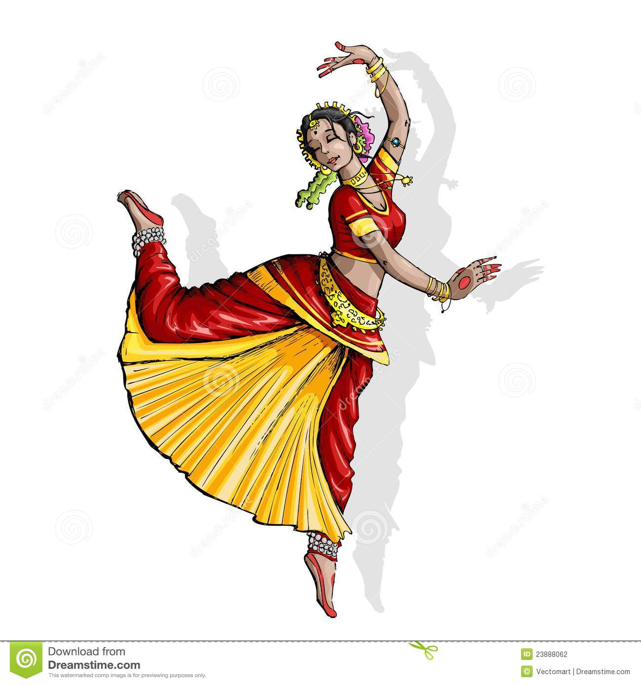 Indian Classical Dancer Stock Photography Image 23888062