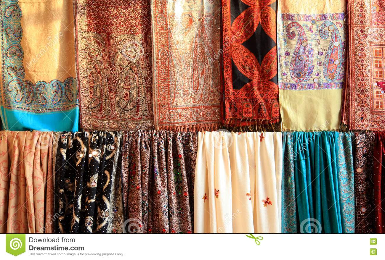 Indian Clothes Background Stock Photo Image Of Design