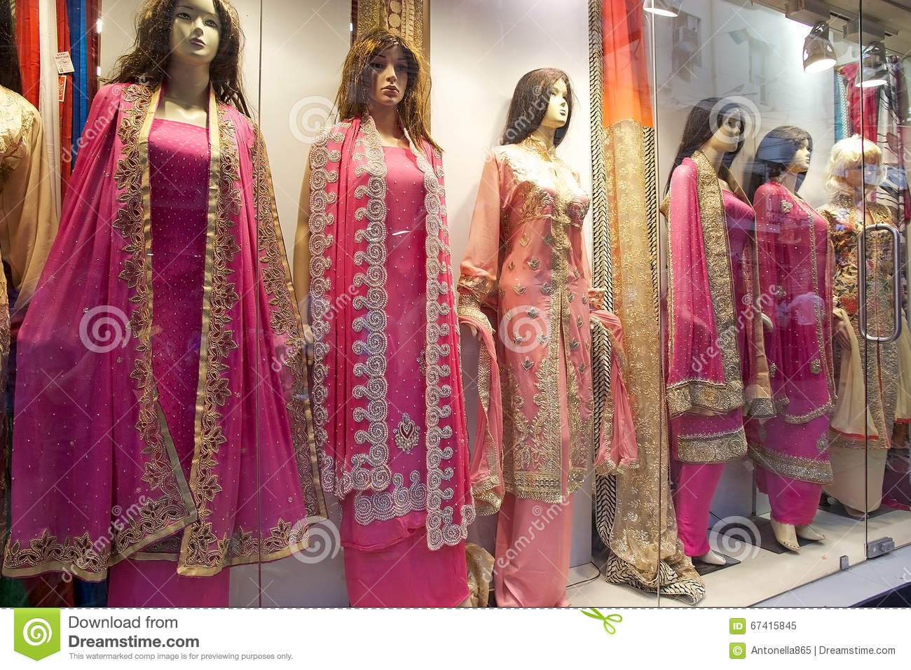 Indian Clothes For Sale Near The New Market Kolkata India Stock Image Image Of Destination Calcutta 67415845