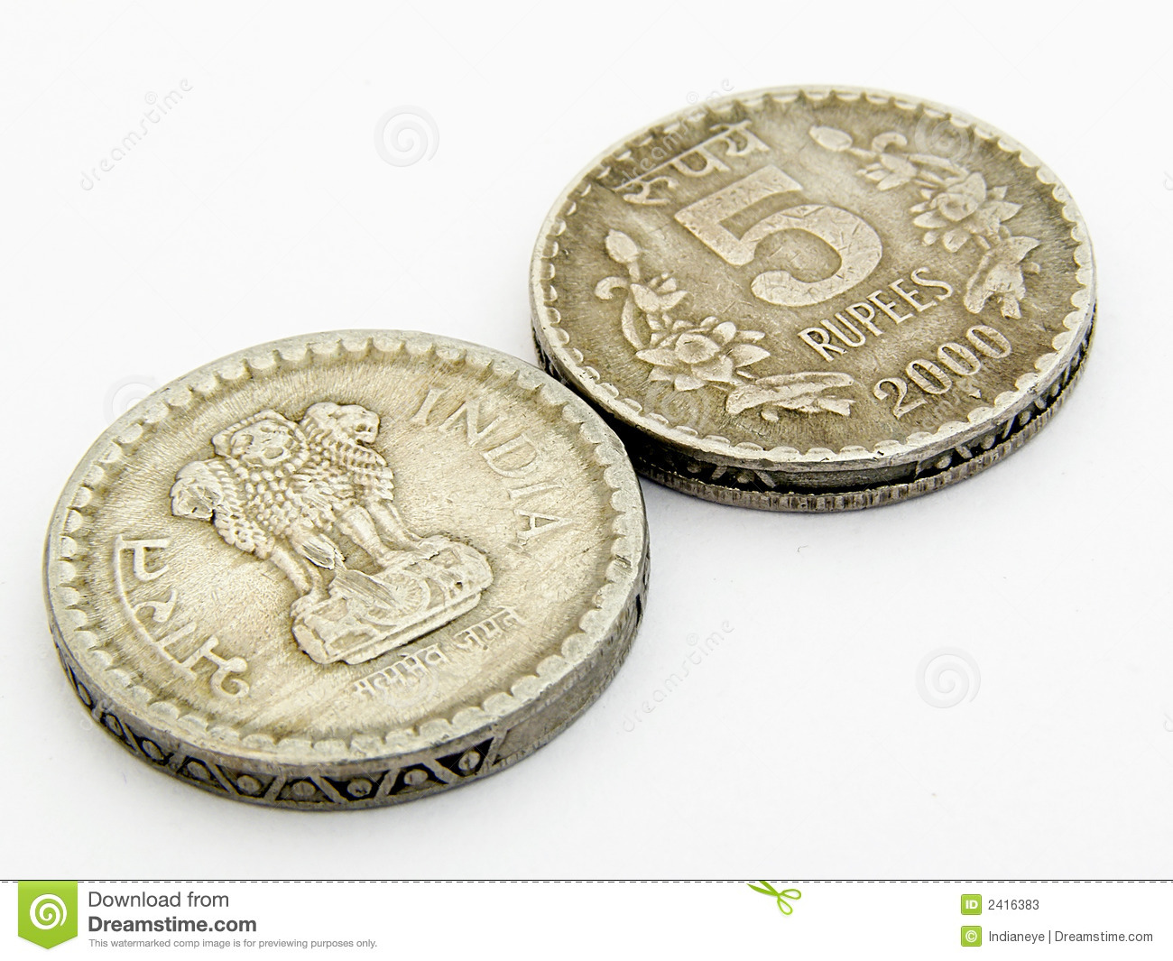 Indian Coins Stock Image Image Of Currency Indian Business 2416383