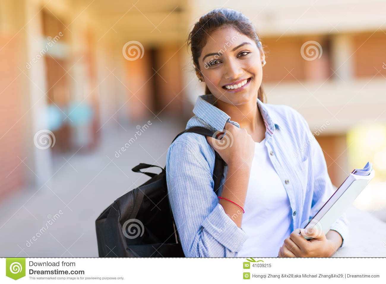 Indian College Girl Stock Photo - Image 41039215-5505