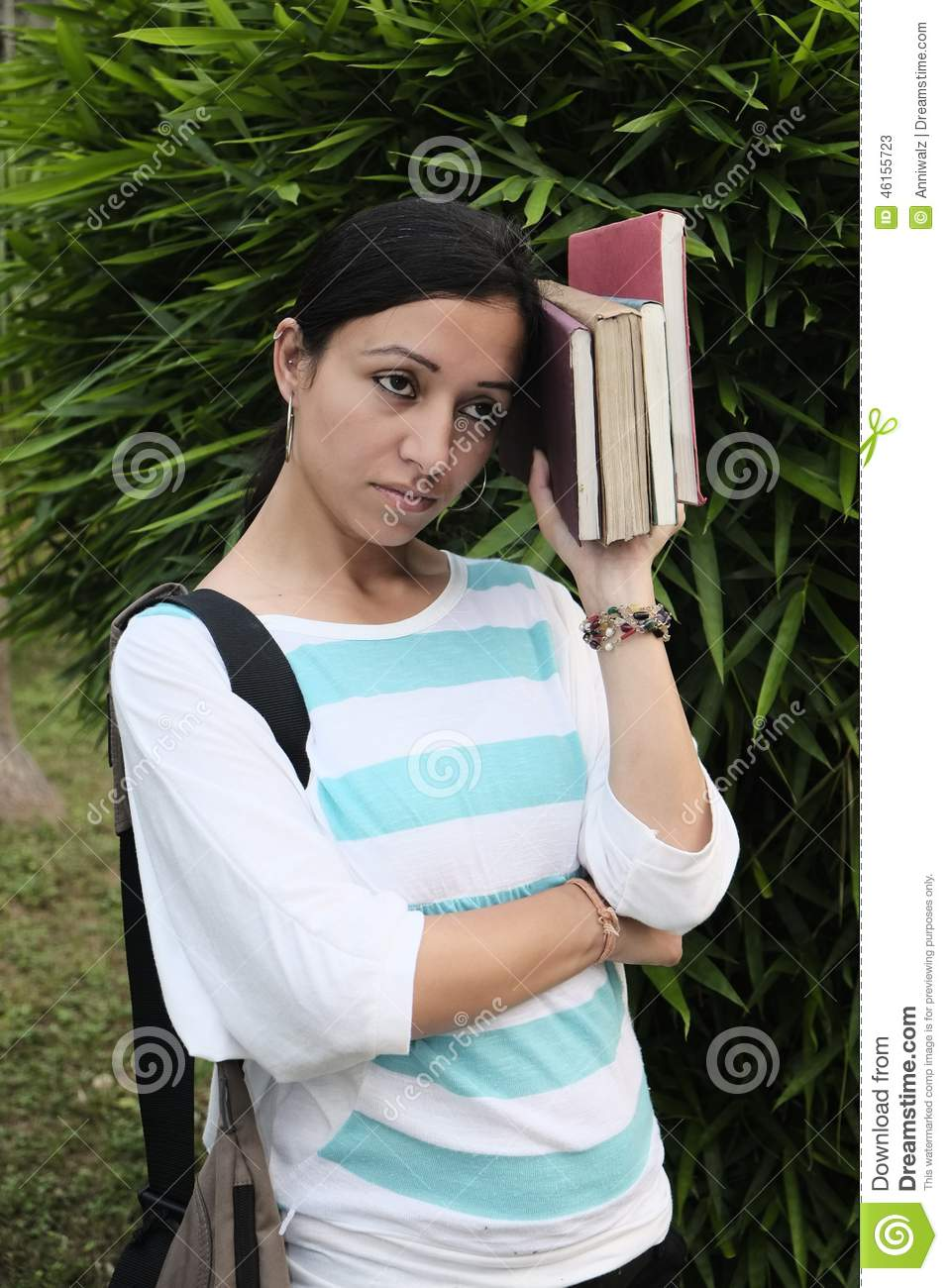 indian college student is anxious and depressed stock photo 46155723
