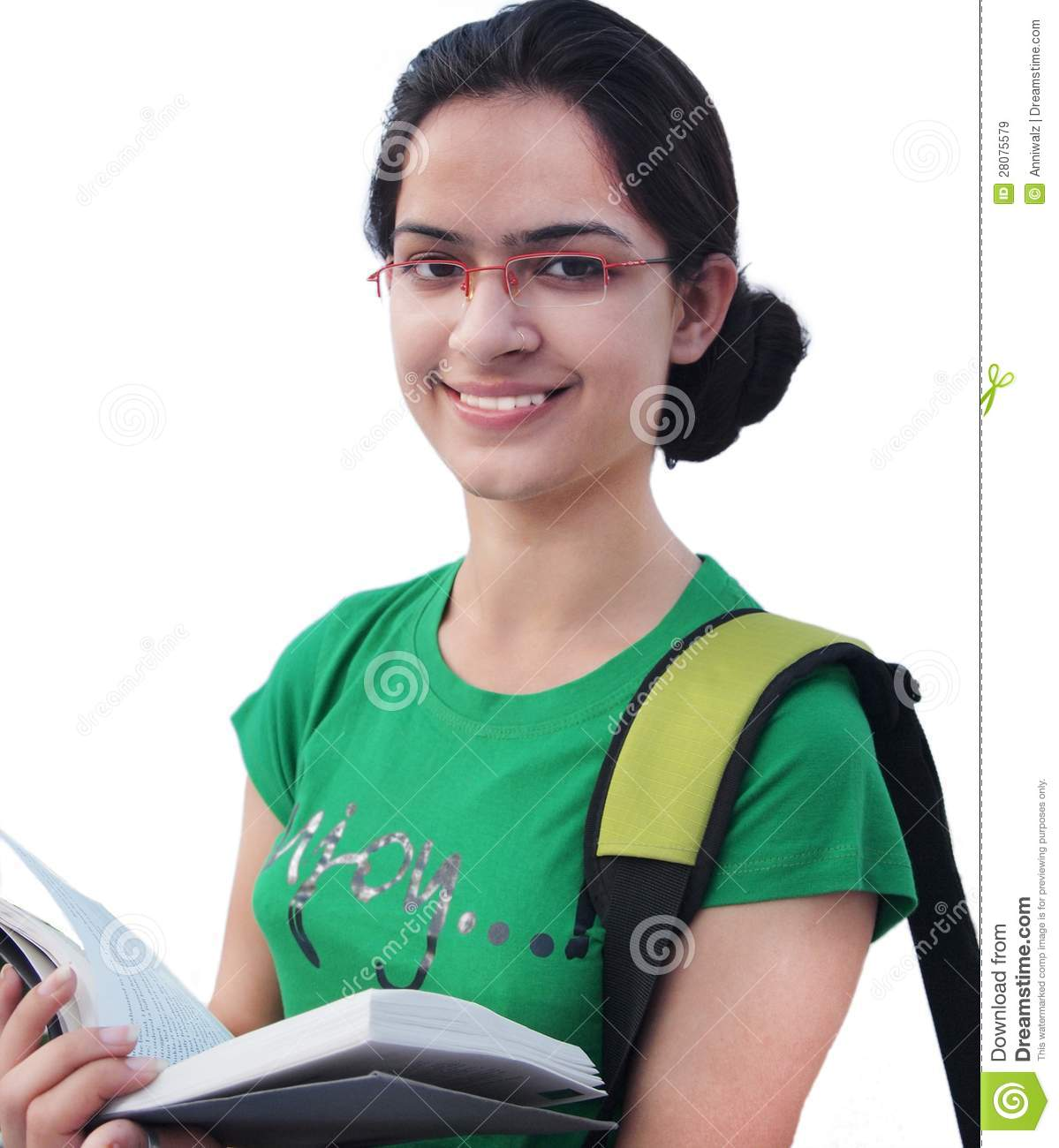 White student in the principles office