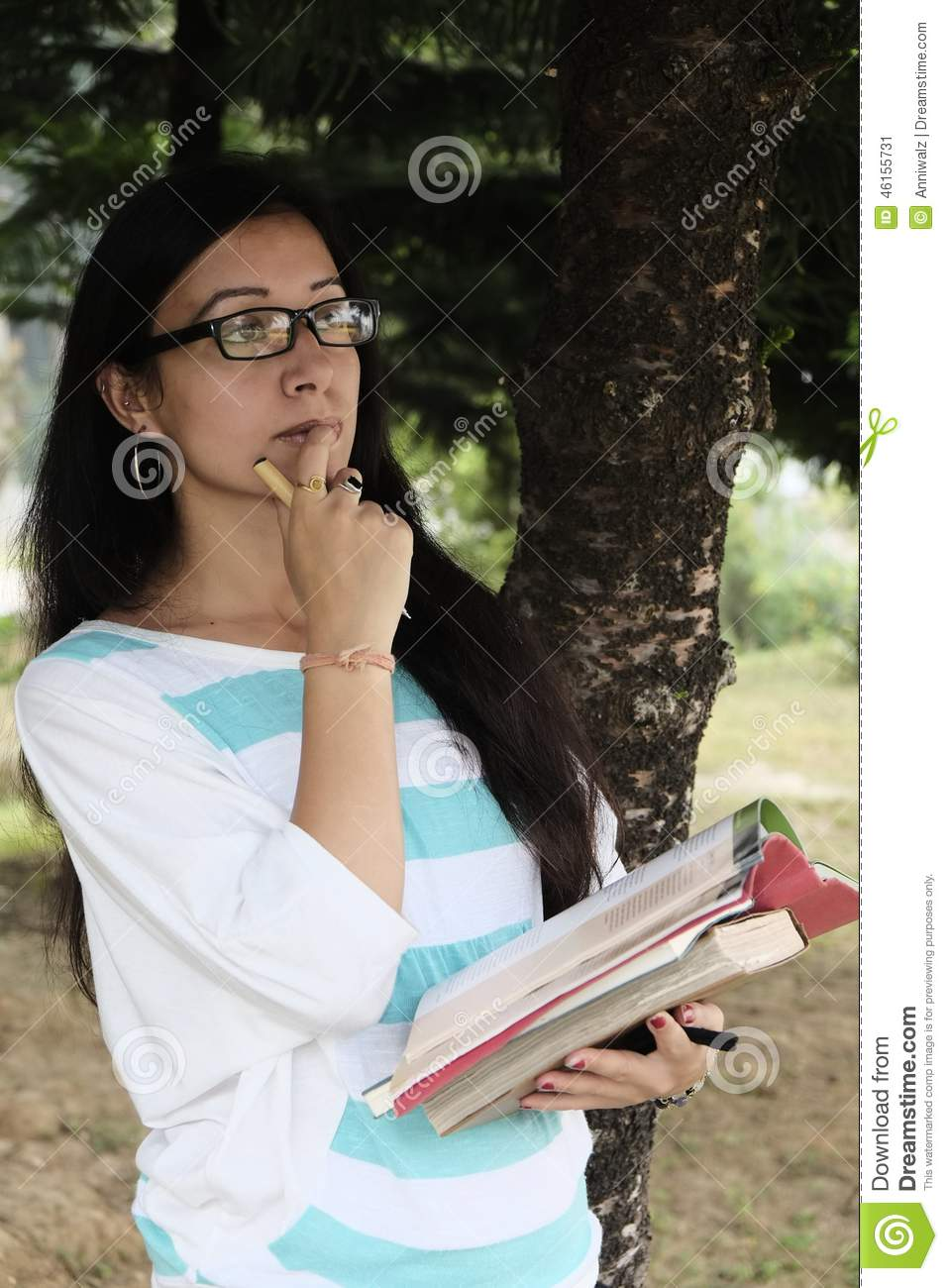 indian college student taking important decision stock image - image
