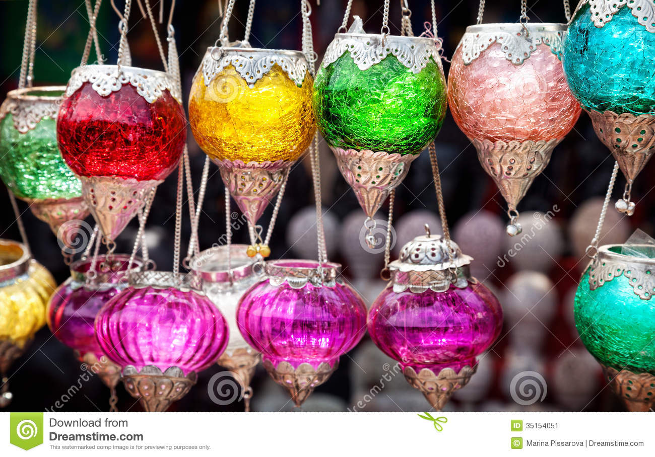 Indian Colorful Candlesticks Stock Image - Image: 35154051
