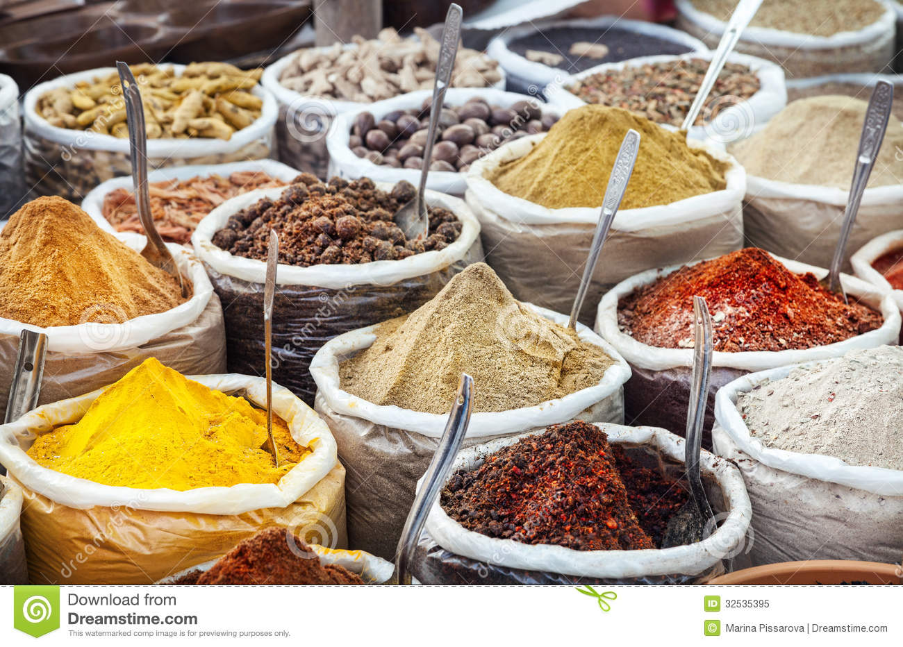 Indian colorful spices stock image image of green color for 7 spice indian cuisine
