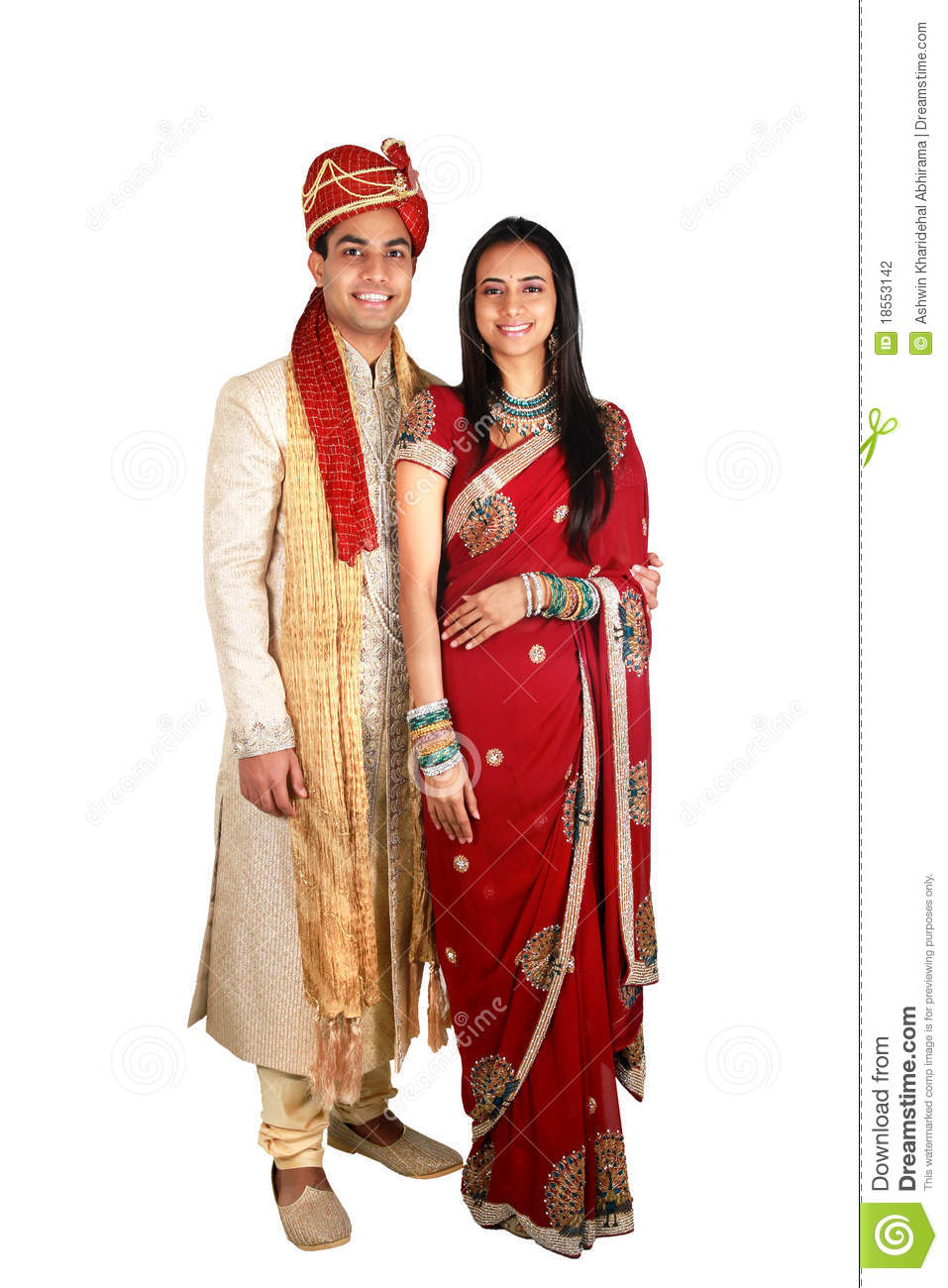 indian couple in traditional wear stock photo  image of
