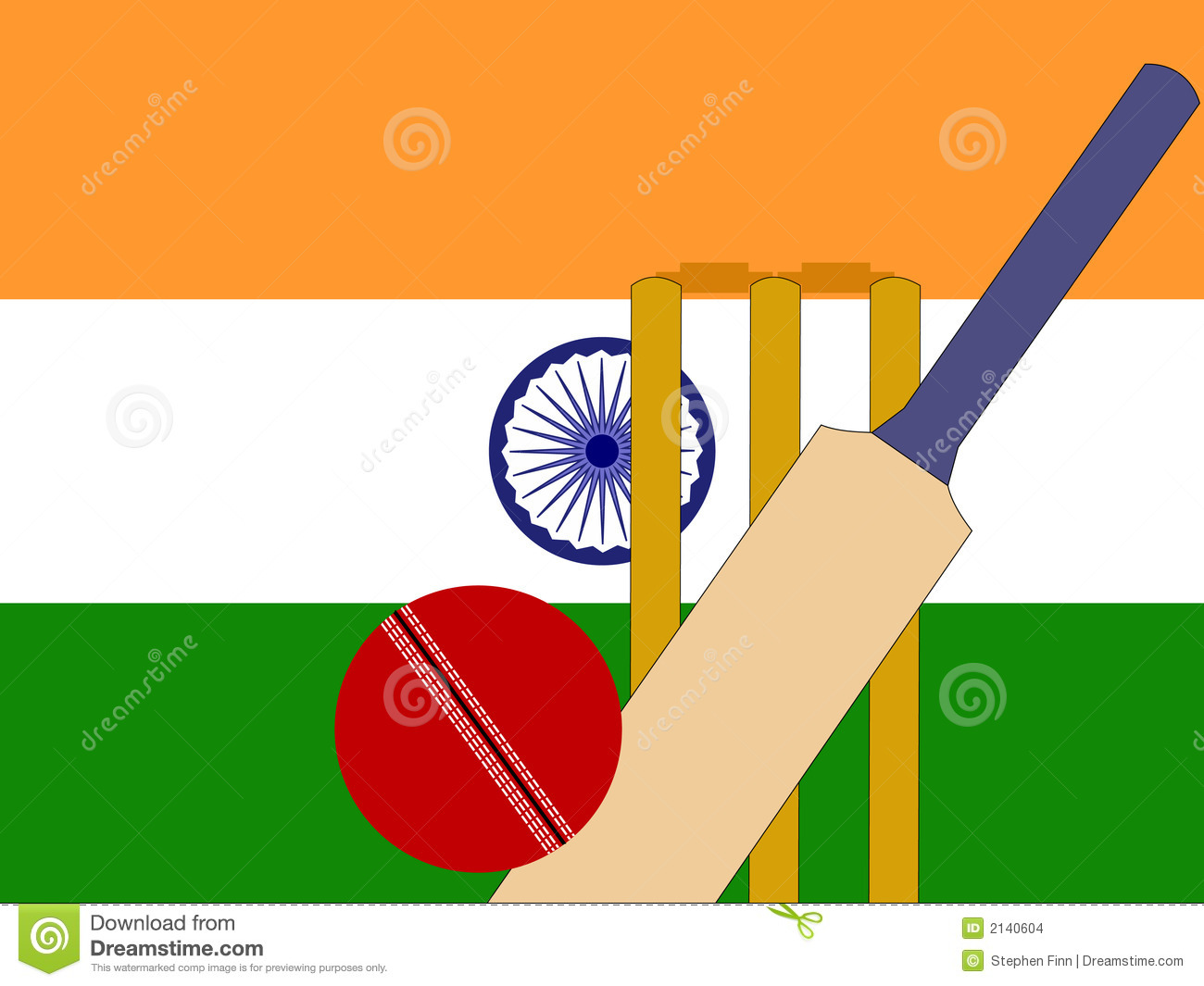 Indian cricket stock vector. Image of competition ...