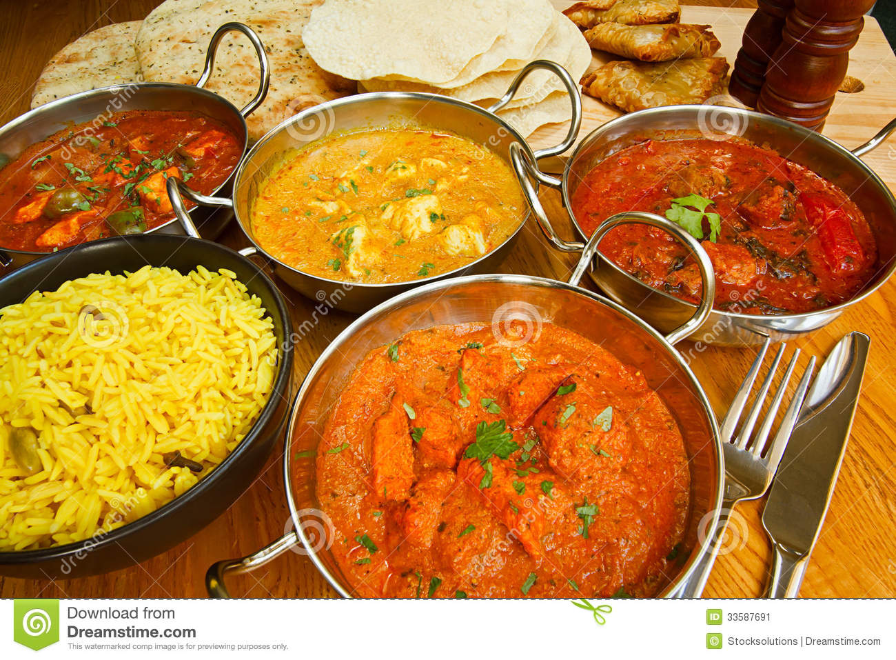 Indian Cuisine Buffet Stock Image Image Of Range Gourmet