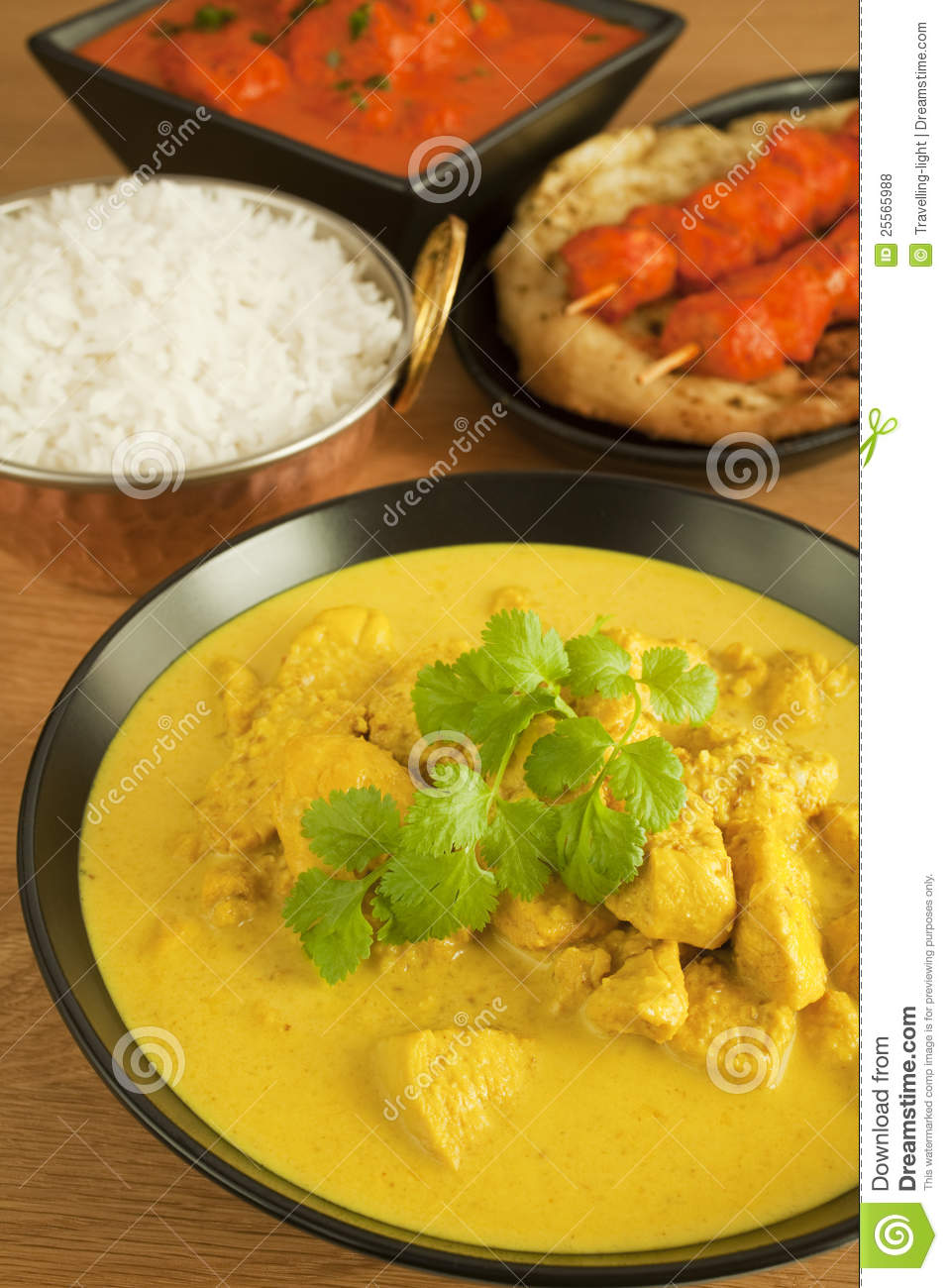 indian cuisine food meal curry chicken tikka stock photo image 25565988. Black Bedroom Furniture Sets. Home Design Ideas