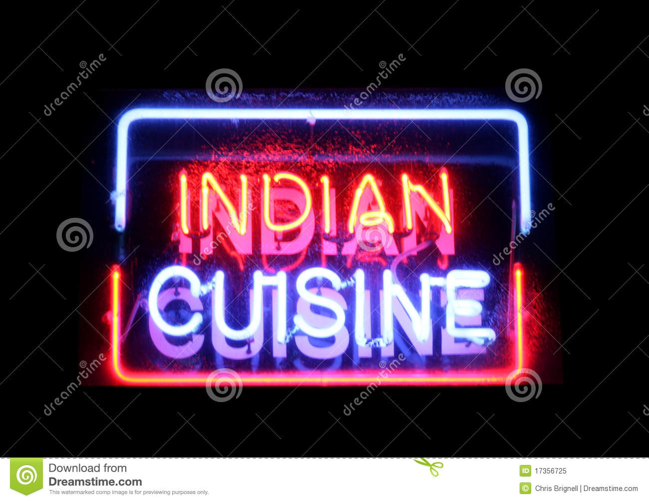 indian cuisine neon sign stock image image of black 17356725. Black Bedroom Furniture Sets. Home Design Ideas