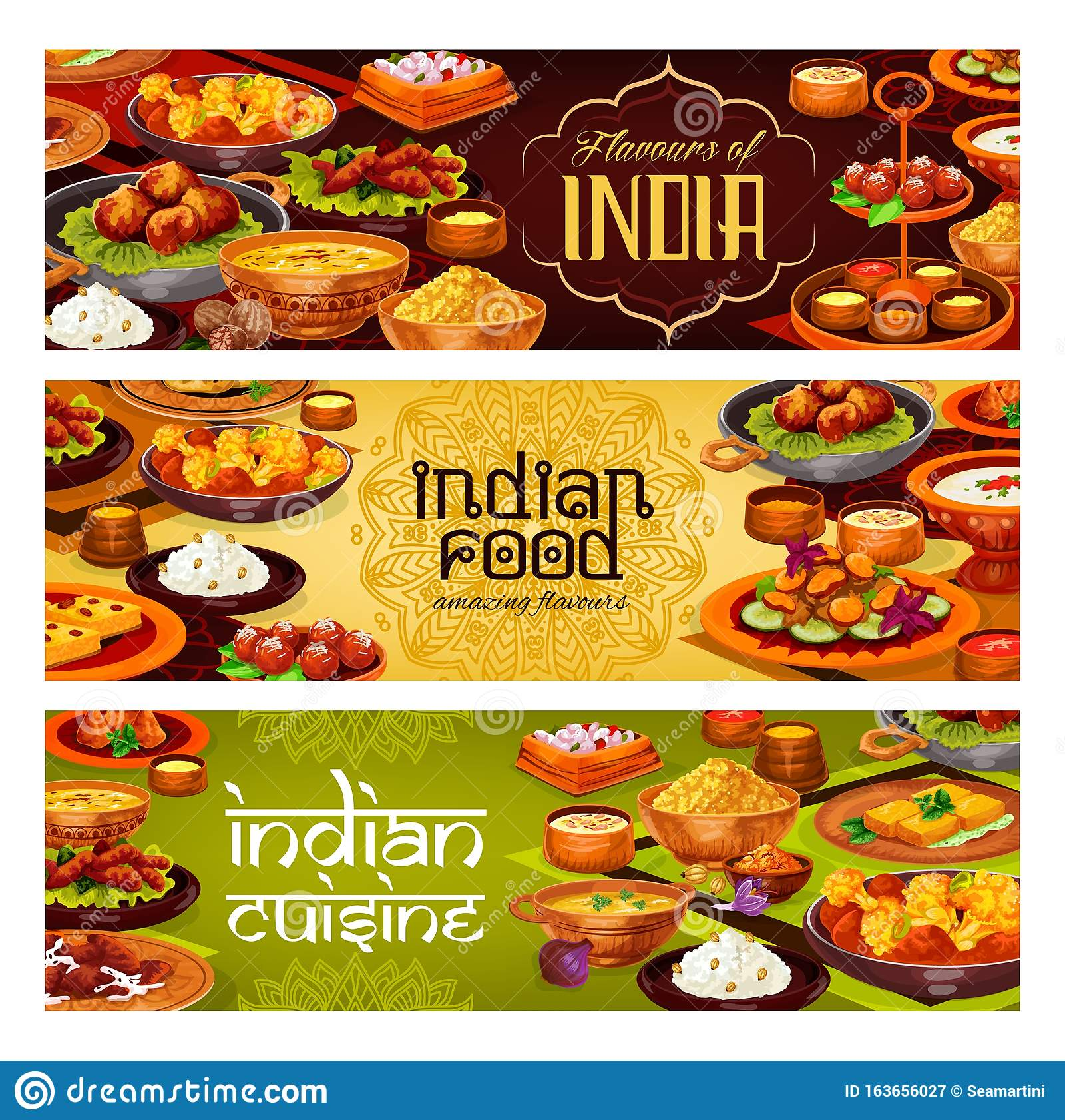 Indian Curry, Pilau, Soups, Rice Desserts And Cake Stock ...