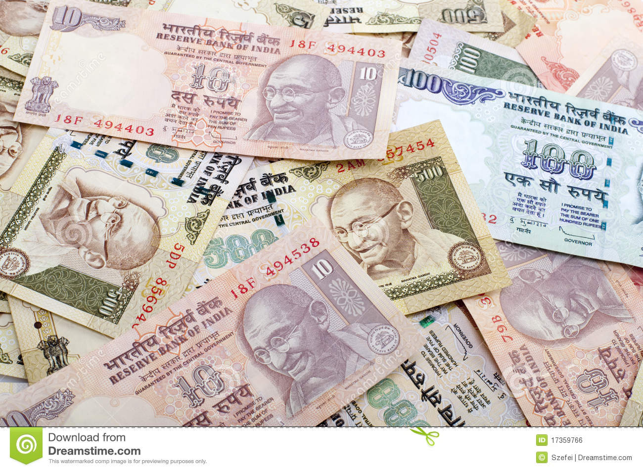 Indian Currency Stock Photo. Image Of Asia, Concepts