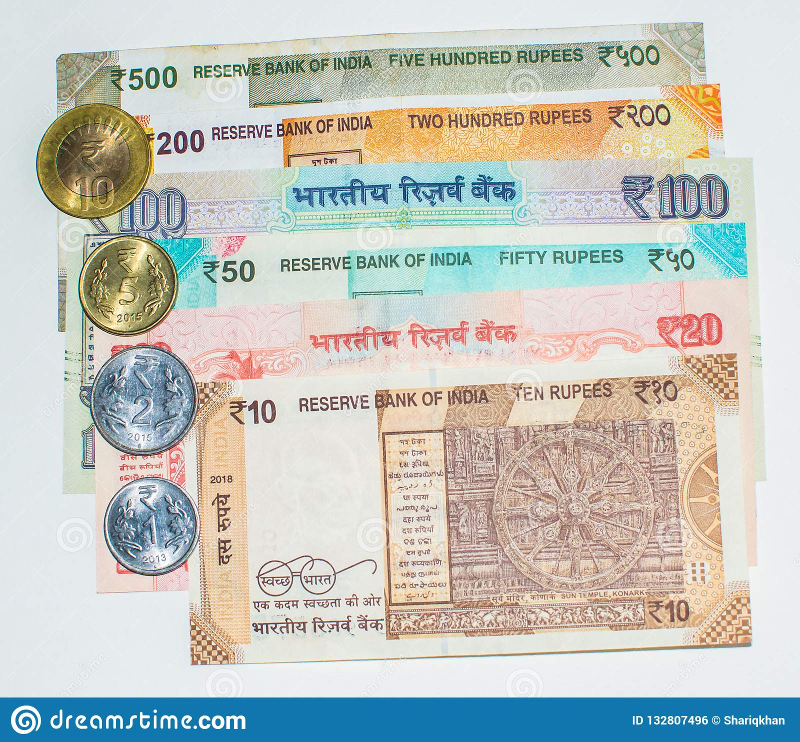 Indian Currency Notes And Coins Stock Photo - Image of india