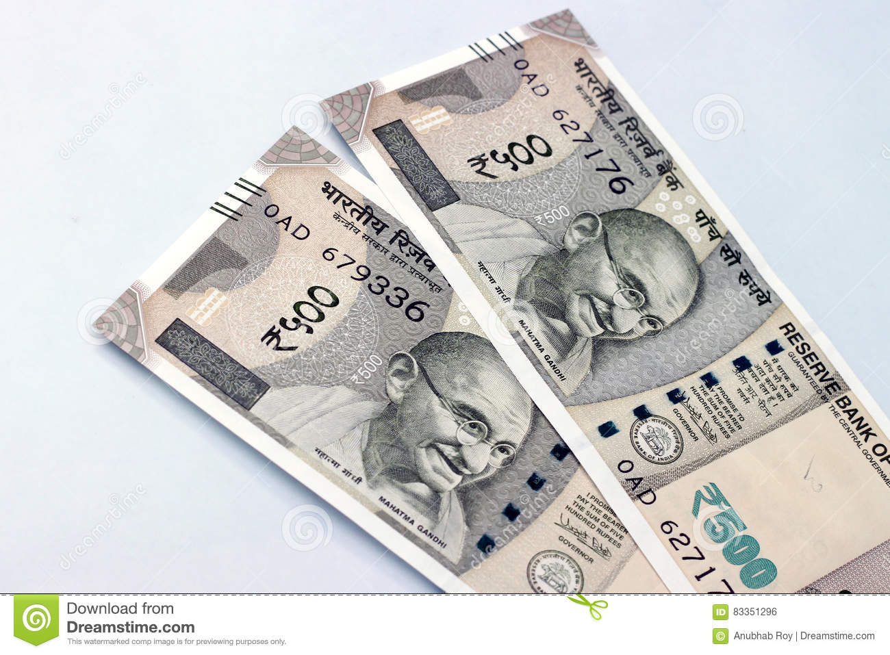 Indian Currency Of 500 Rupee Notes  Stock Photo - Image of
