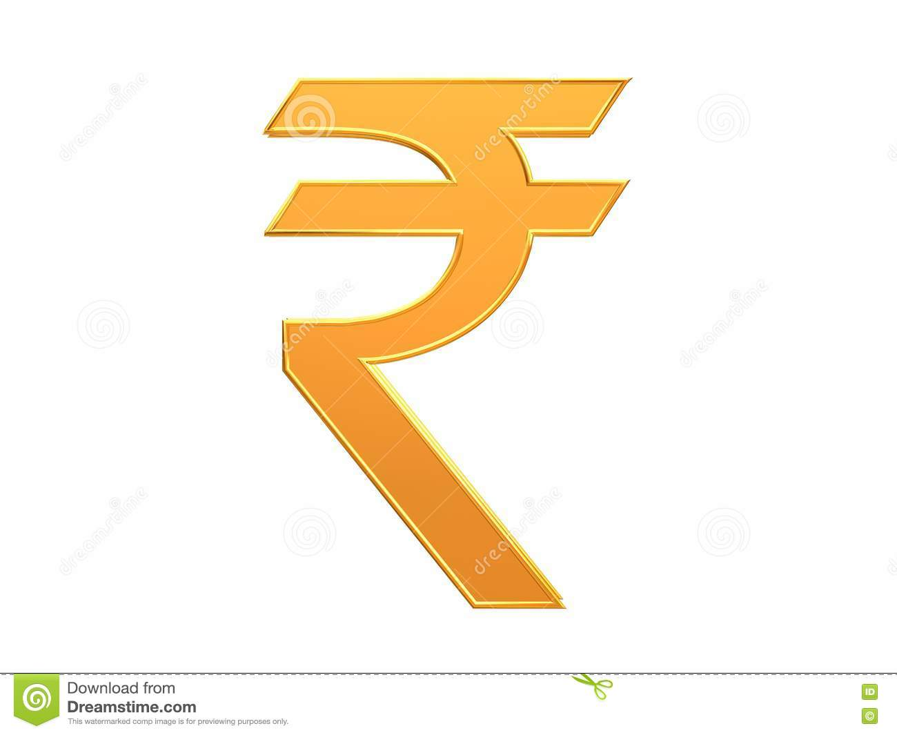 Indian Currency Rupee Symbol Design Stock Illustration