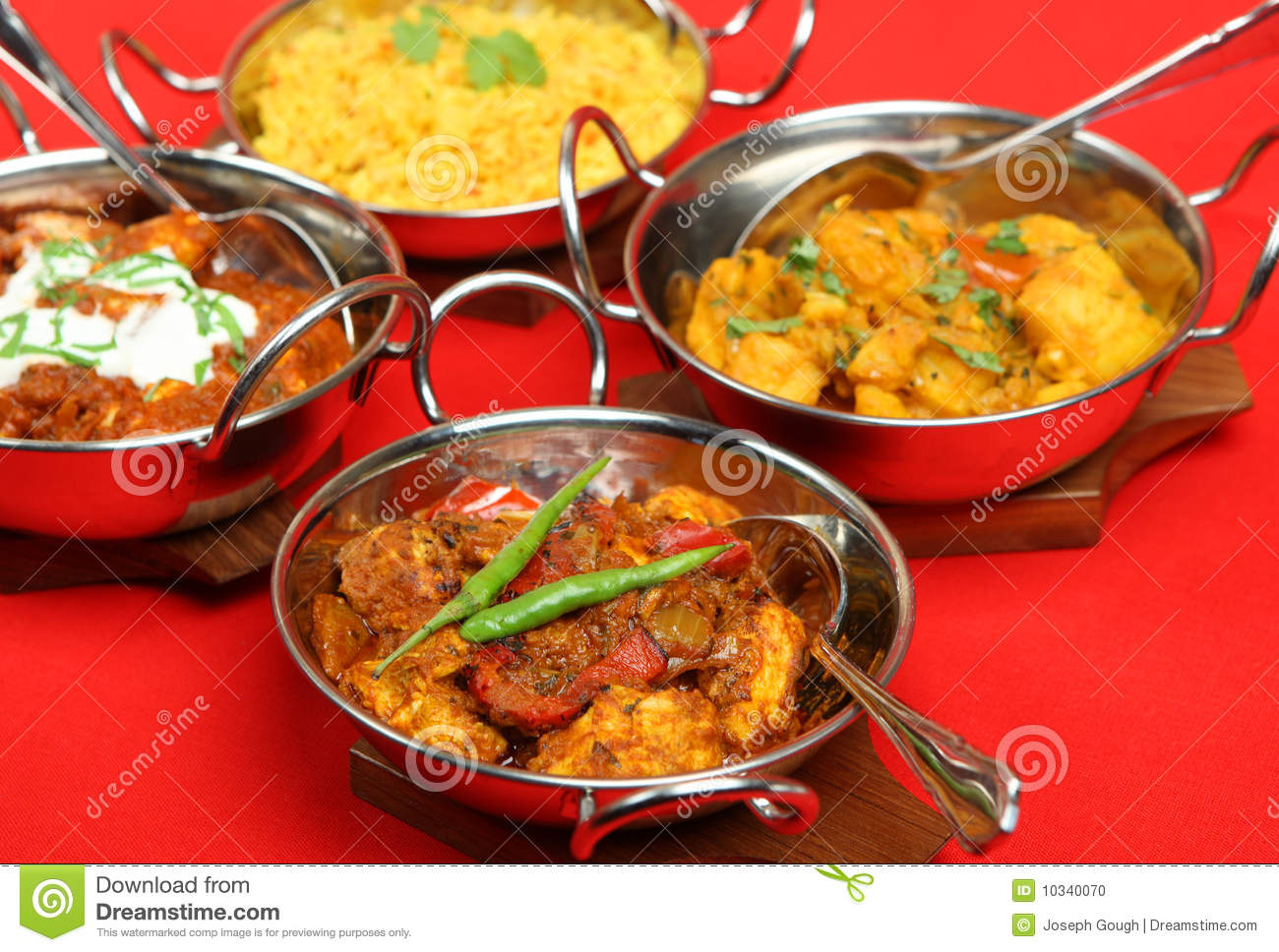 Indian Food Serving Dishes