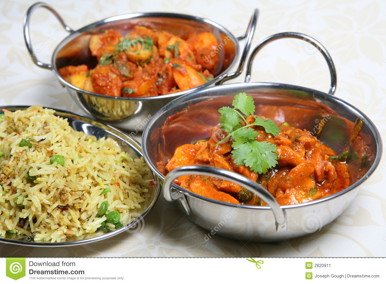 Indian Curry Dinner Meal Stock Image  Image: 2820911