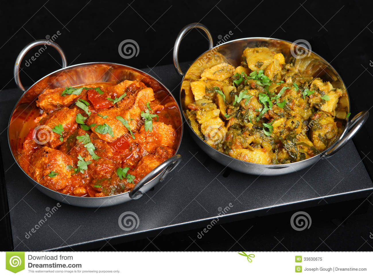 indian curry dishes ob food warmer royalty free stock photo image 33630675. Black Bedroom Furniture Sets. Home Design Ideas