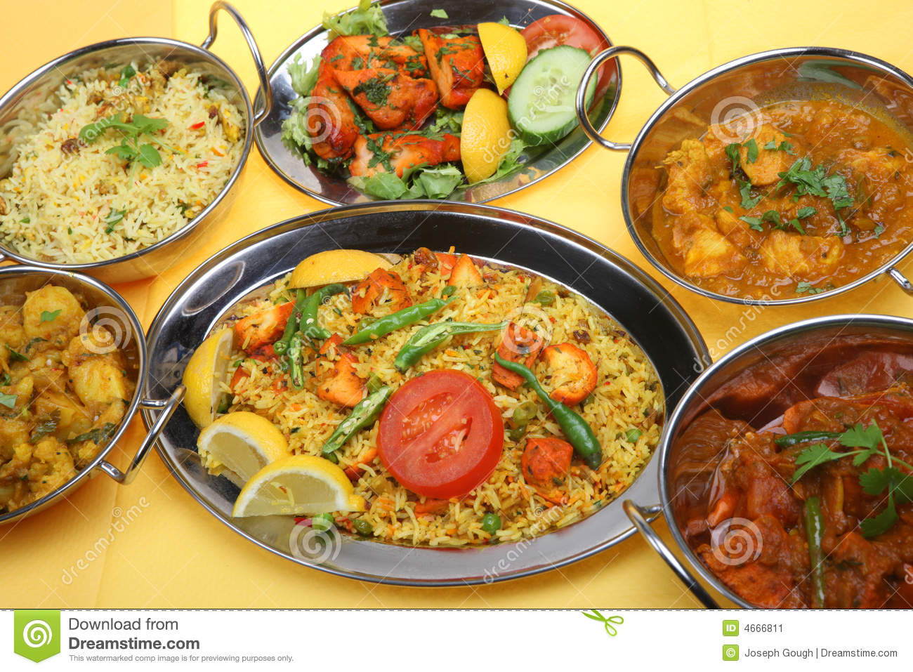 Indian Curry Food Meal Dinner Stock Image Of Spicy