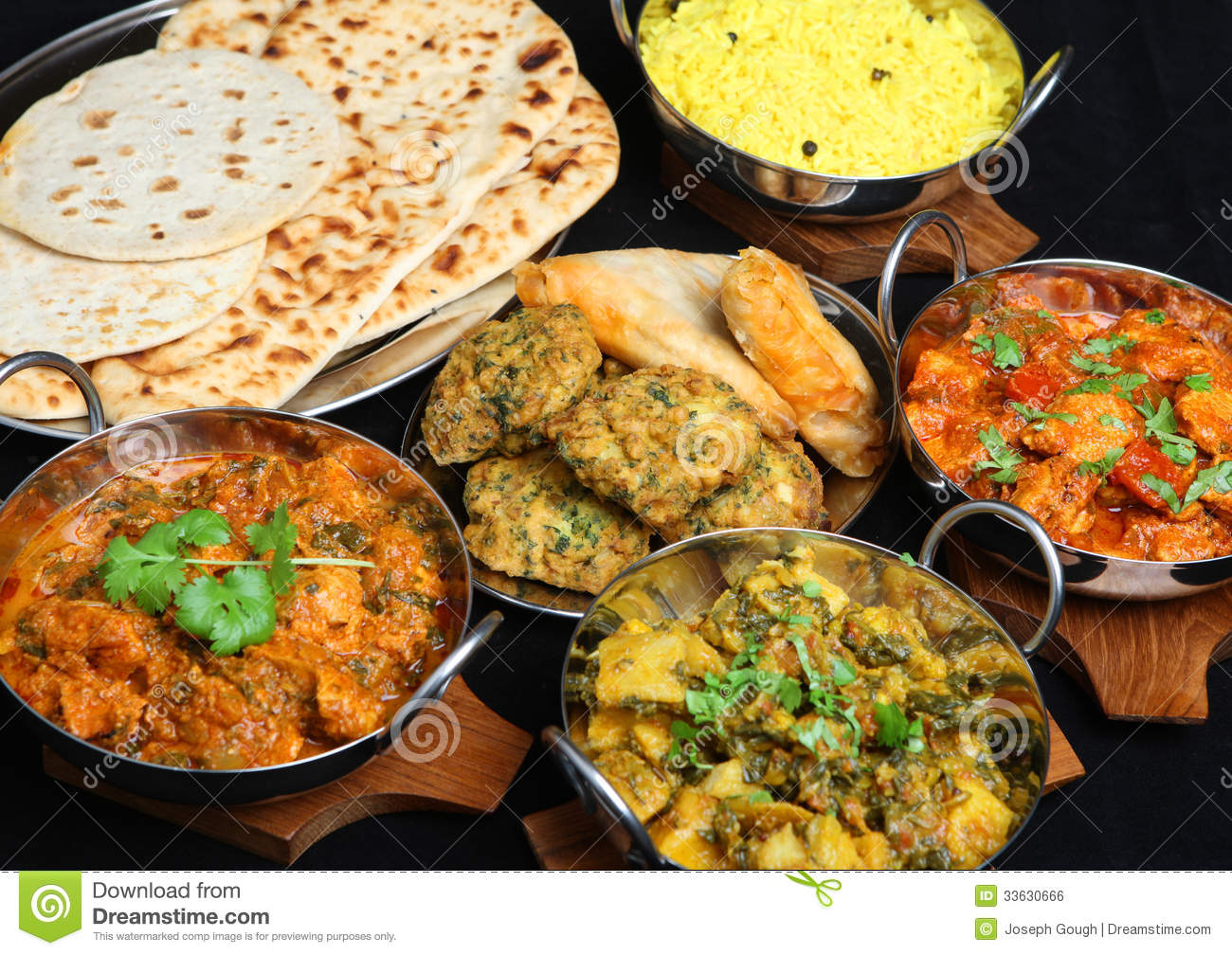 indian curry food selection stock photo image of bowl curries 33630666. Black Bedroom Furniture Sets. Home Design Ideas