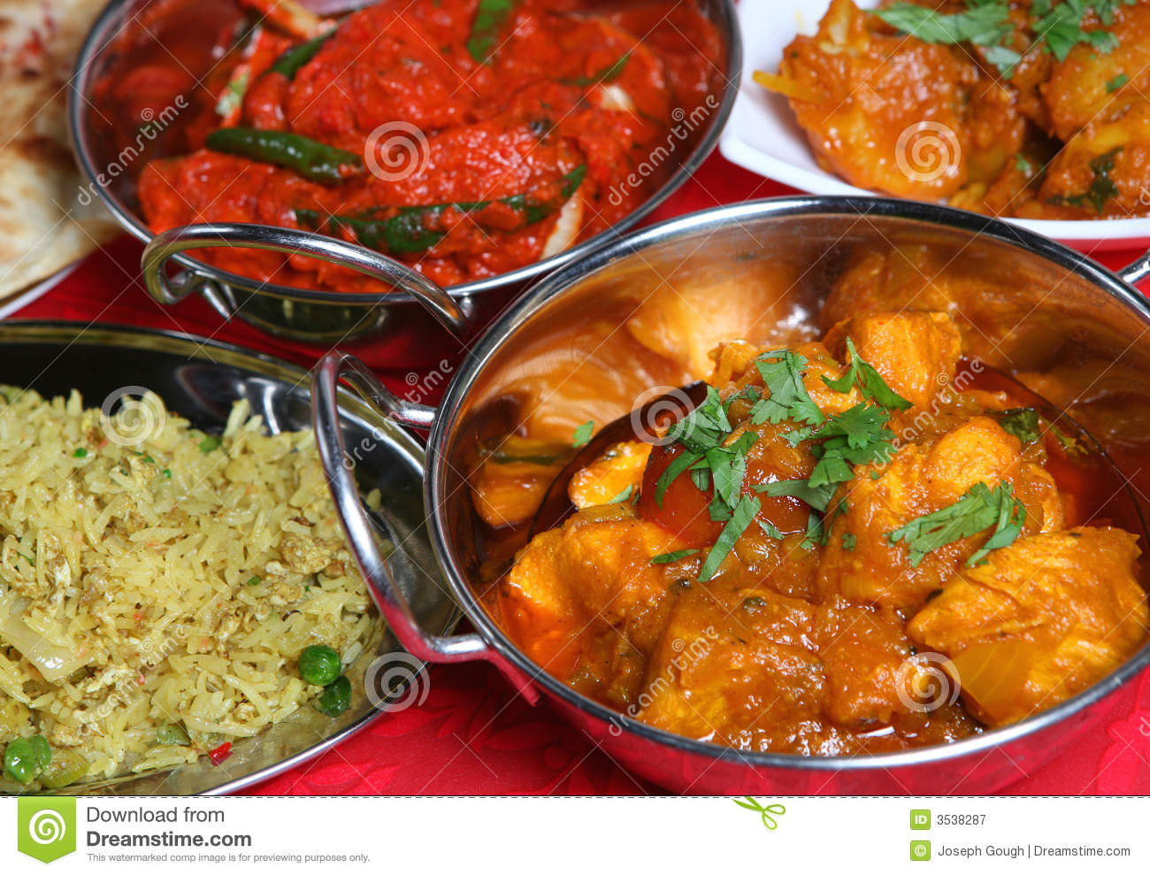 Indian Curry Meal Food Royalty Free Stock Photography - Image: 3538287