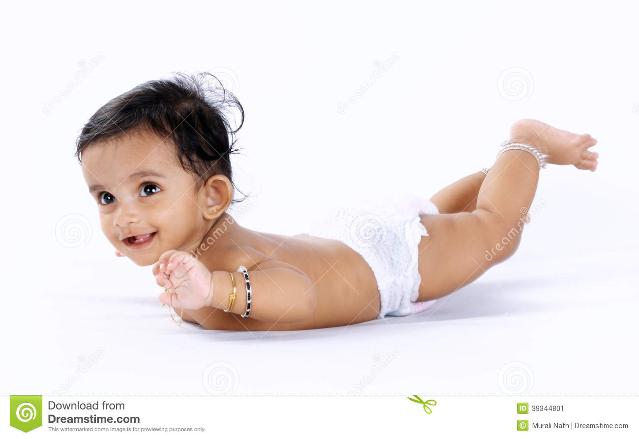 Indian Cute Baby Stock Image Image Of Mouth Expression