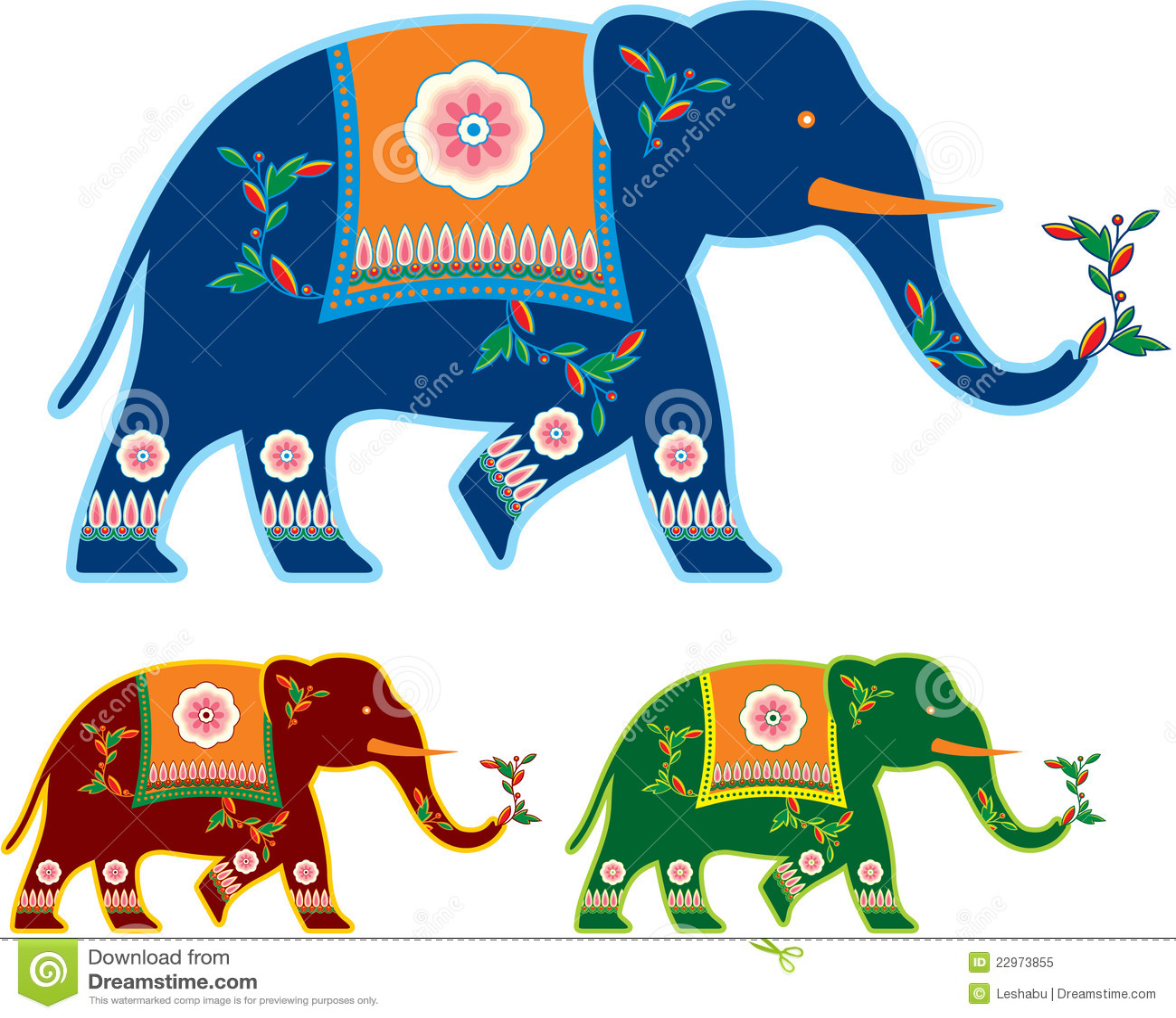 Indian Decorated Elephant Royalty Free Stock Photo - Image ...