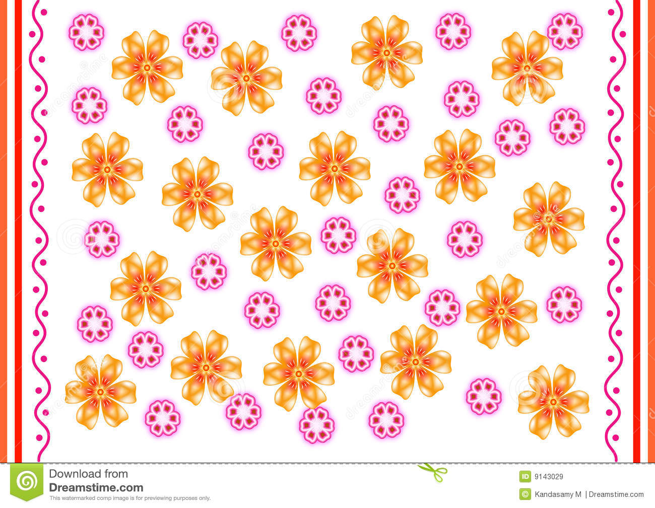 Indian Design Border Royalty Free Stock Images - Image: 9143029