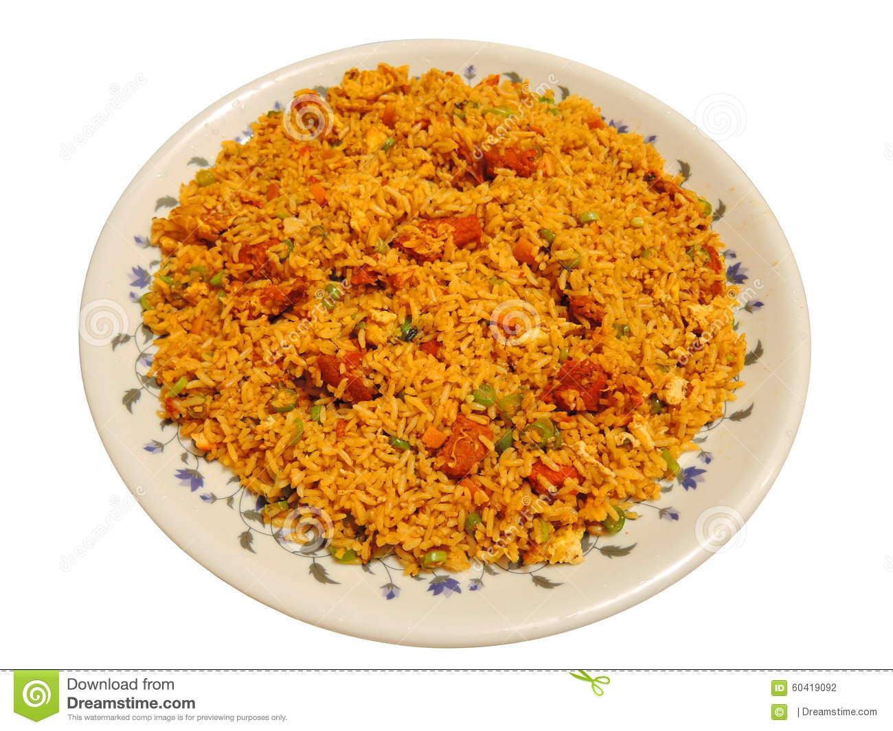 Indian Dish - Chicken Fried Rice Stock Photo - Image: 60419092