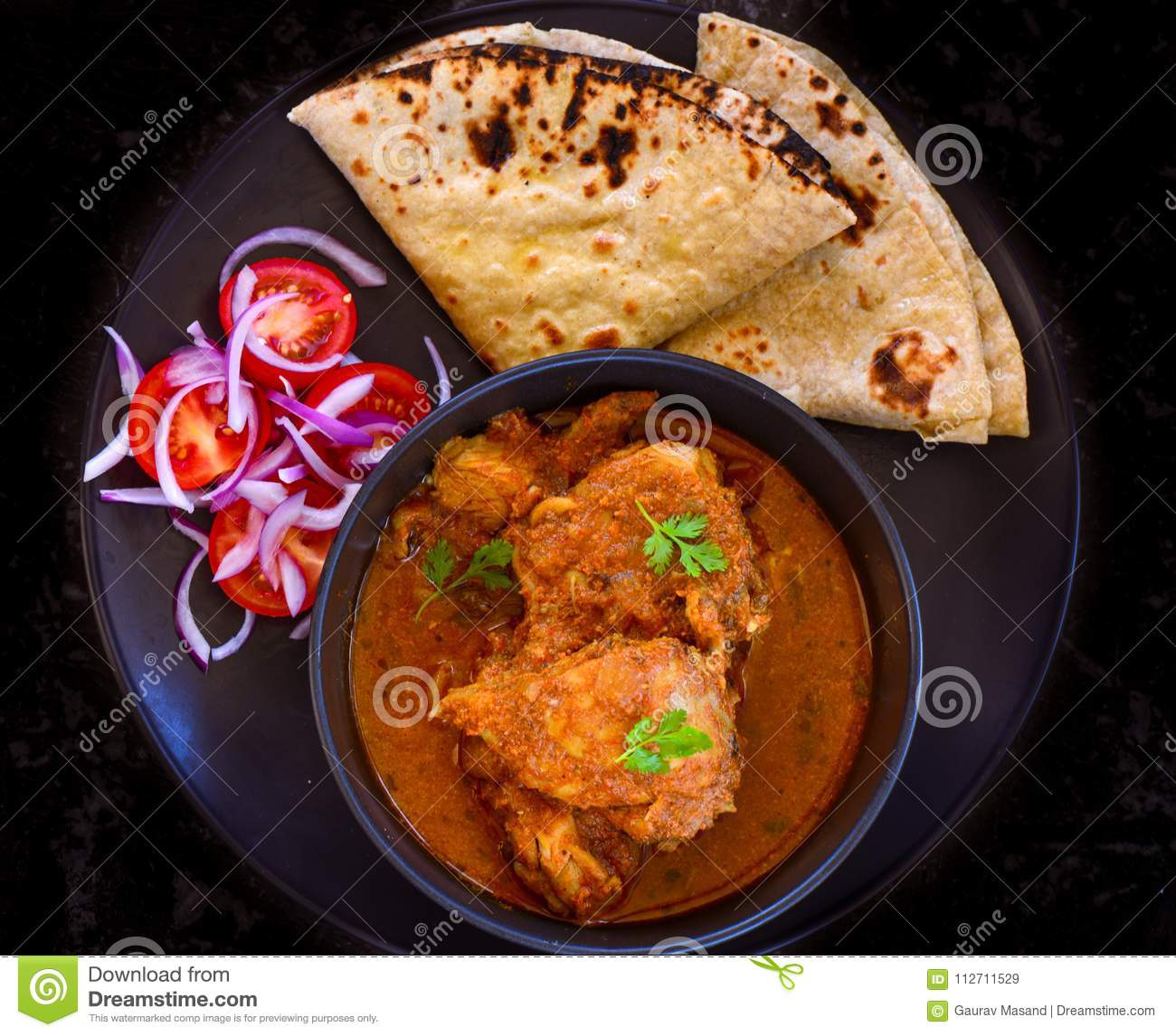 Indian Meal Punjabi Chicken Curry Stock Image Image Of