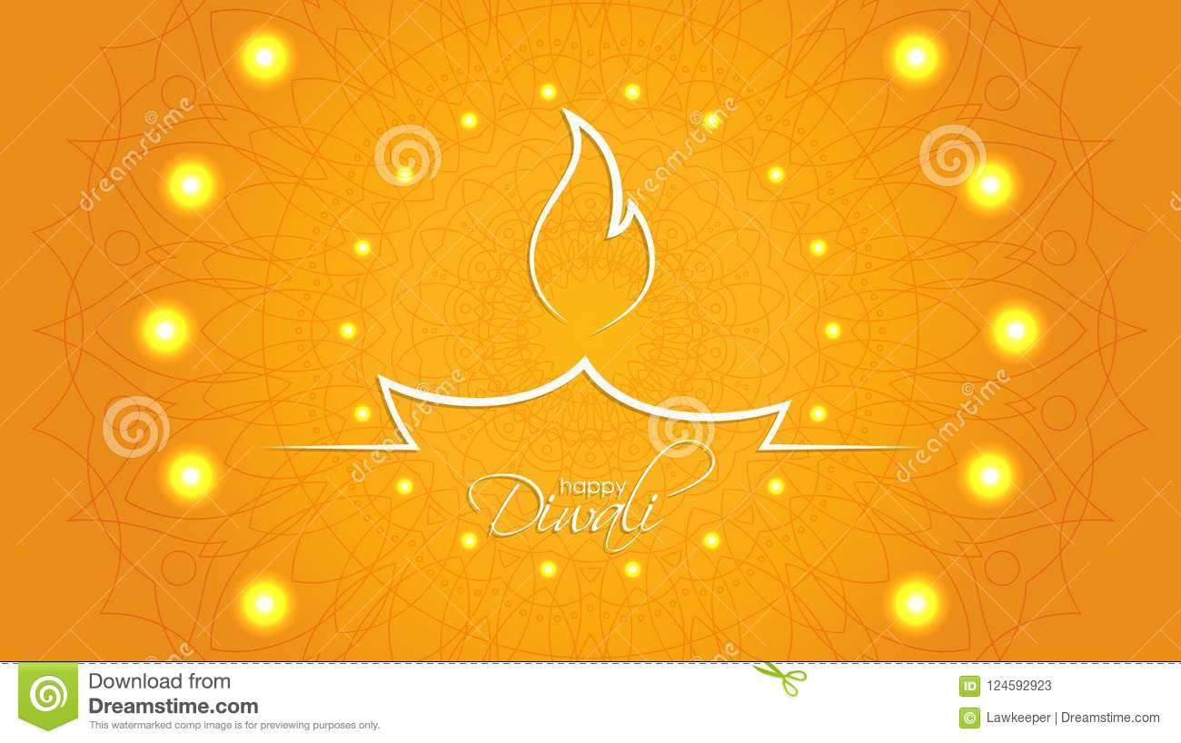 Happy Diwali Abstract Background With Decorative Pattern Of