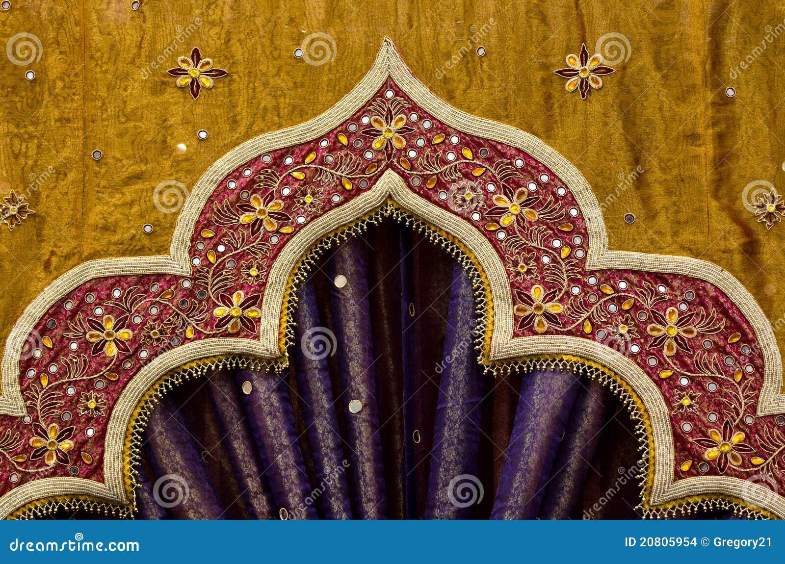 Indian Fabric Design Stock Photo Image Of Exotic Hookah