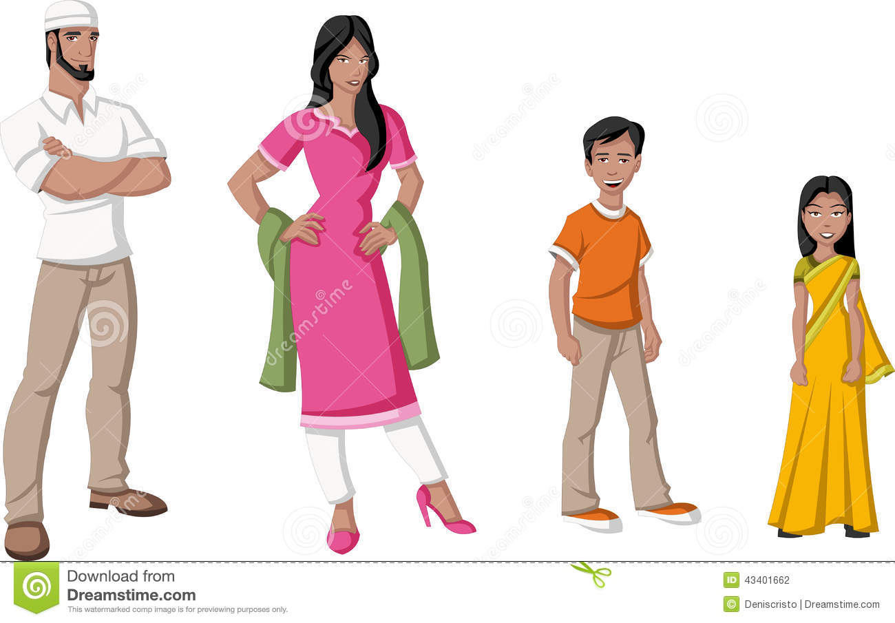 indian-family-happy-cartoon-people-43401