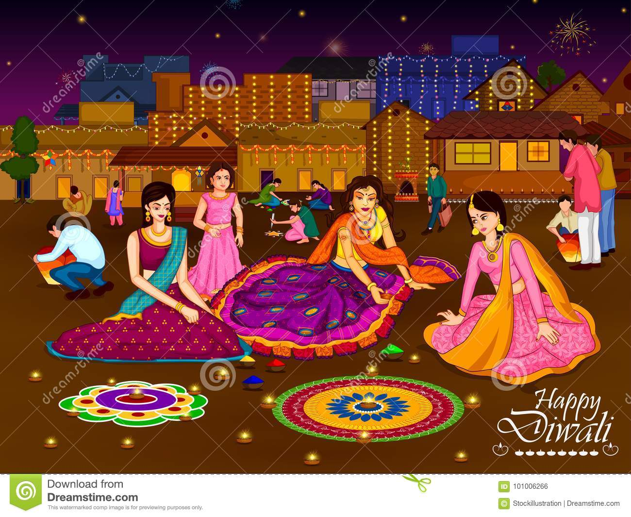 Indian Family People Celebrating Diwali Festival Of India Stock ... for Deepavali Celebration Clipart  111bof
