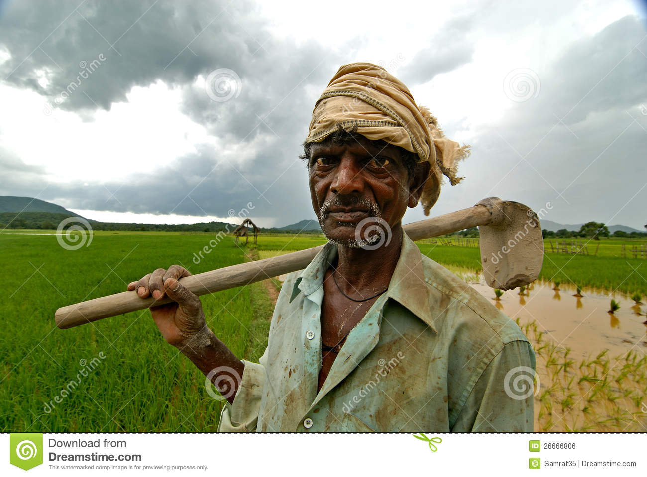 Indian Farmer editorial photo. Image of india, spade ...