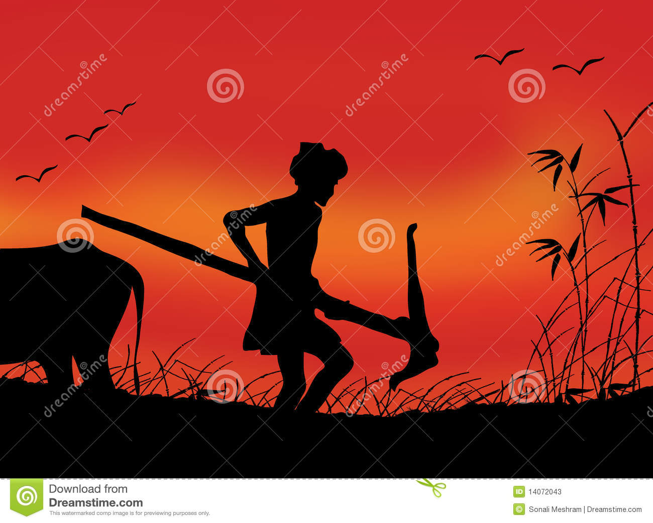 Indian Farmer At Work Stock Photos - Image: 14072043