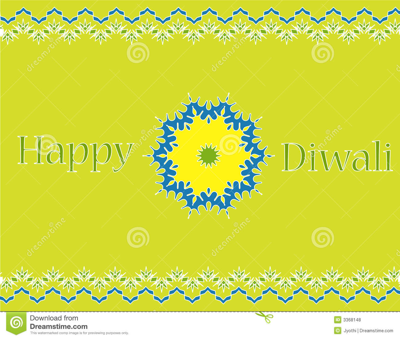 Indian festival Diwali greeting card