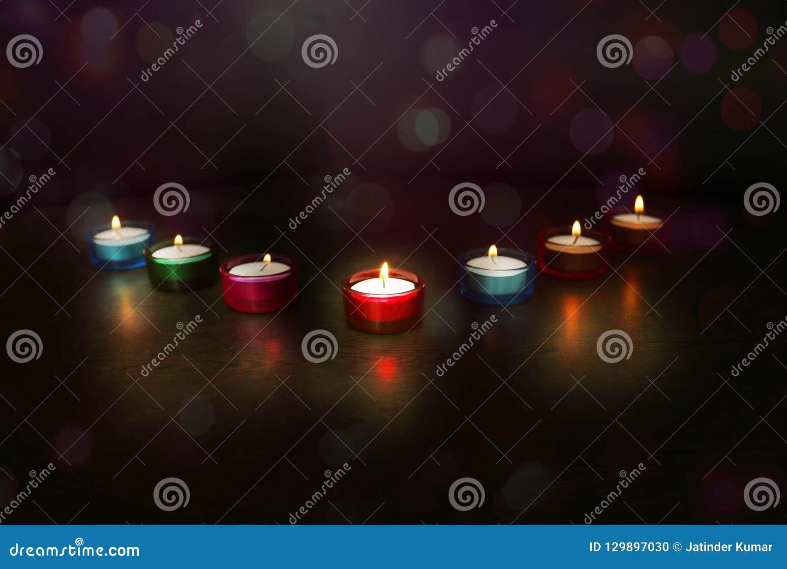 Indian festival Diwali. Picture of Diya lamps