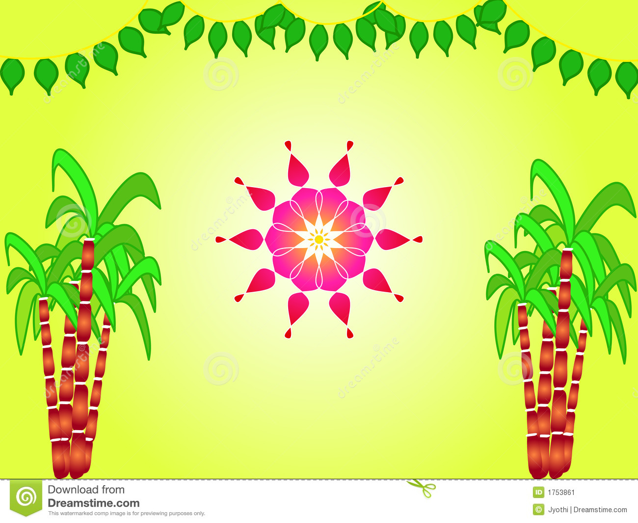 Indian Festival Decoration Indian Festival Sankranthi Illustration Stock Image Image 1753861