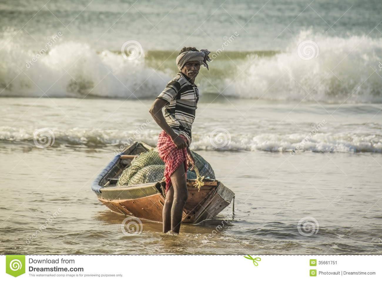 Indian Fisherman Editorial Photo - Image: 35661751