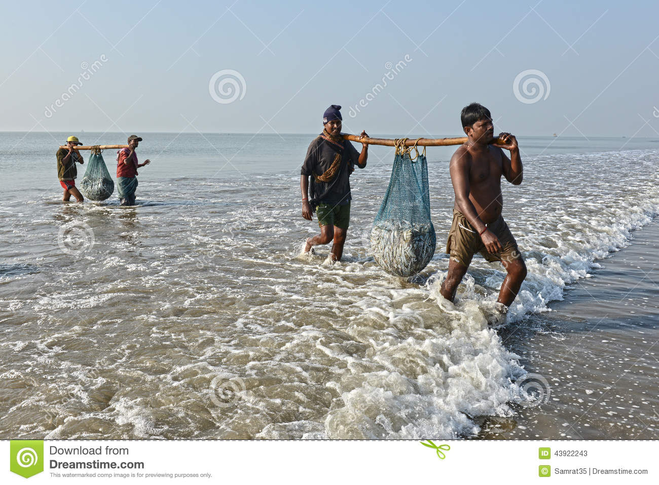 Indian fishermen editorial stock photo image of carry for Videos of people fishing